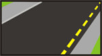 linea amarilla discontinua
